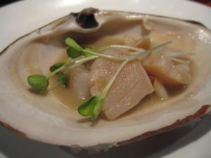 Geoduck is local, sustainable, and yummy.